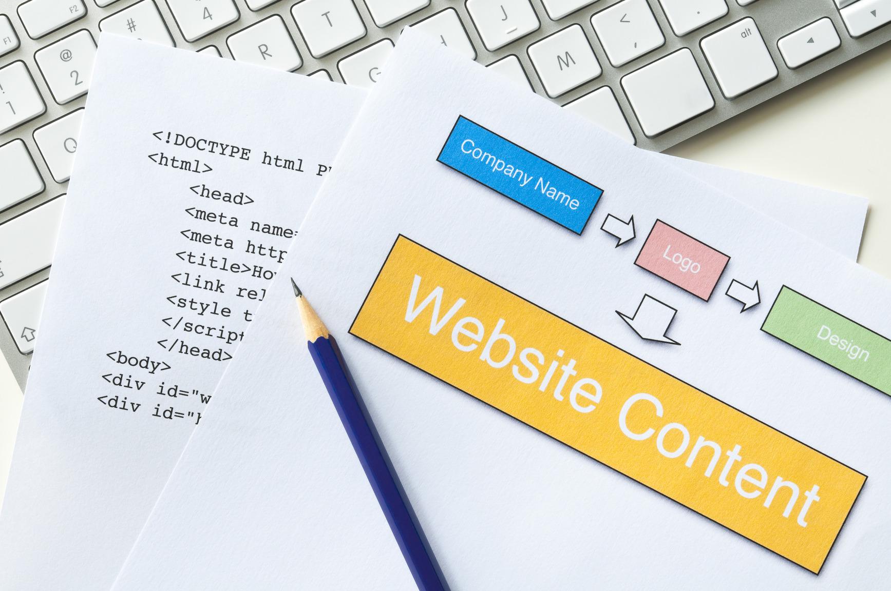 Website Planung - Logo, Content, Design