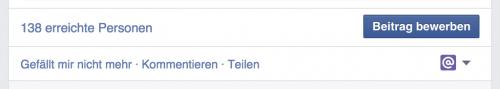 Auf Facebook erreichte Nutzer