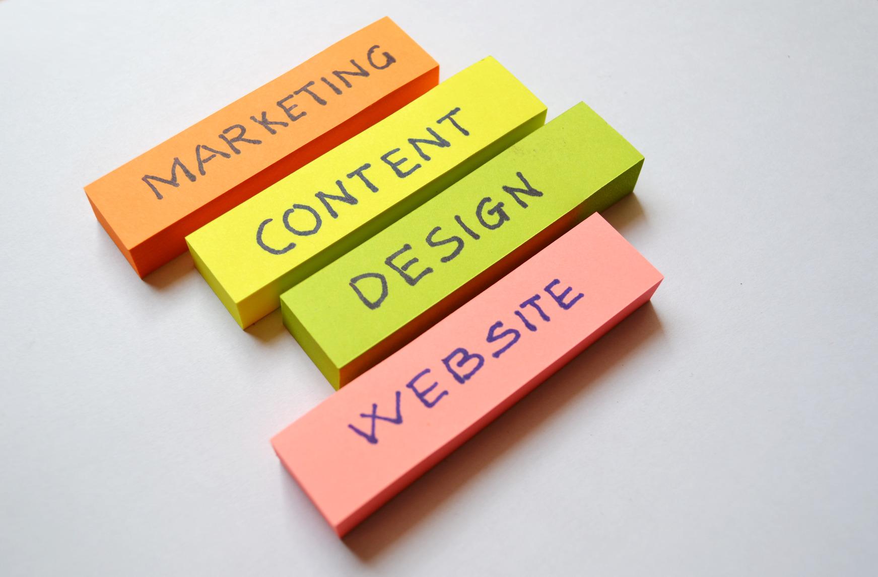 Marketing Content Design Website