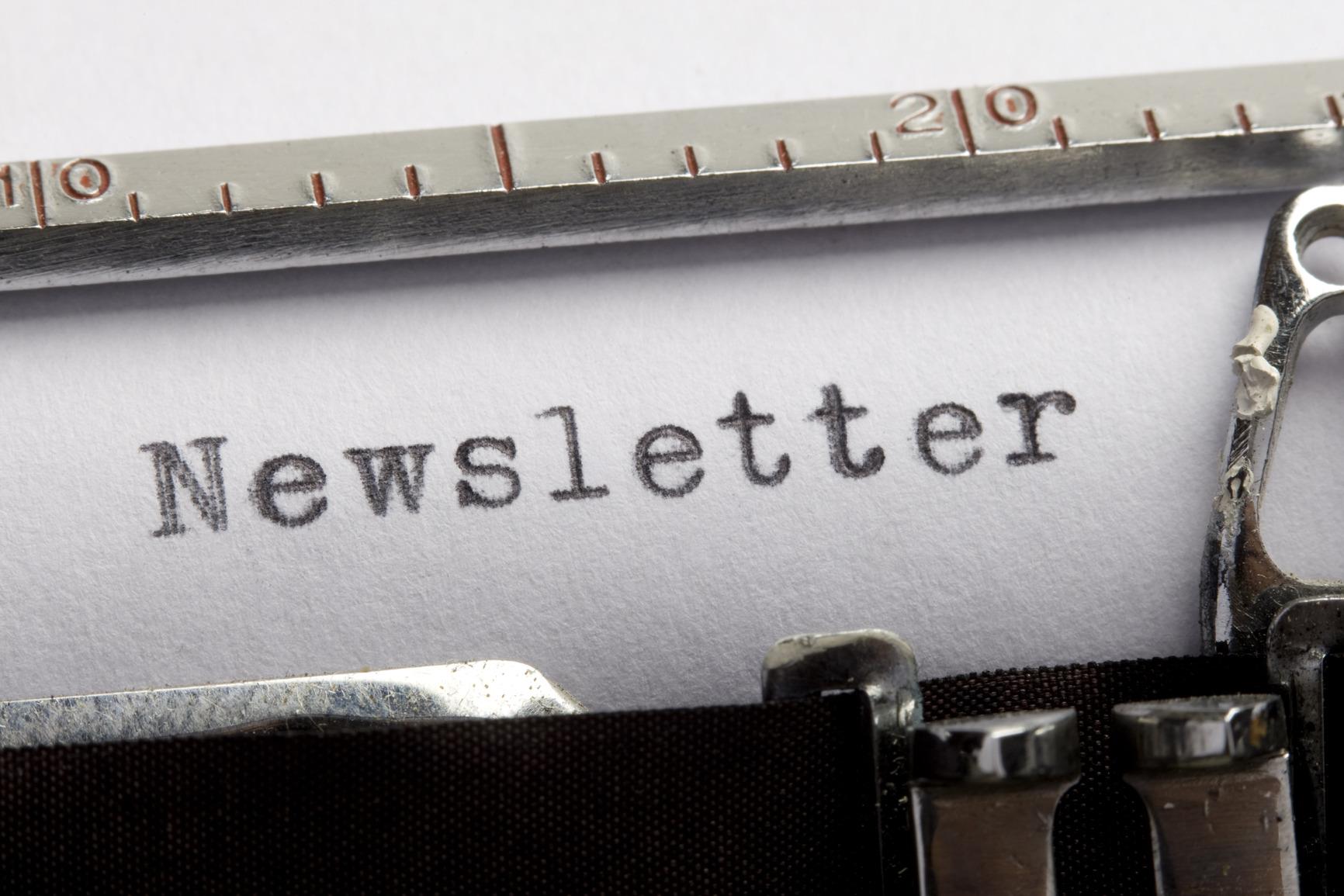 Newsletter Schreibmaschine