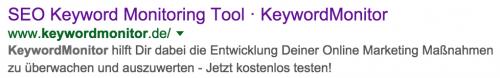Google Suchergebnisse: Title & Meta Beschreibung