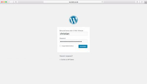 WordPress Installation - Schritt 6